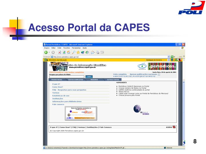 Acesso Portal da CAPES