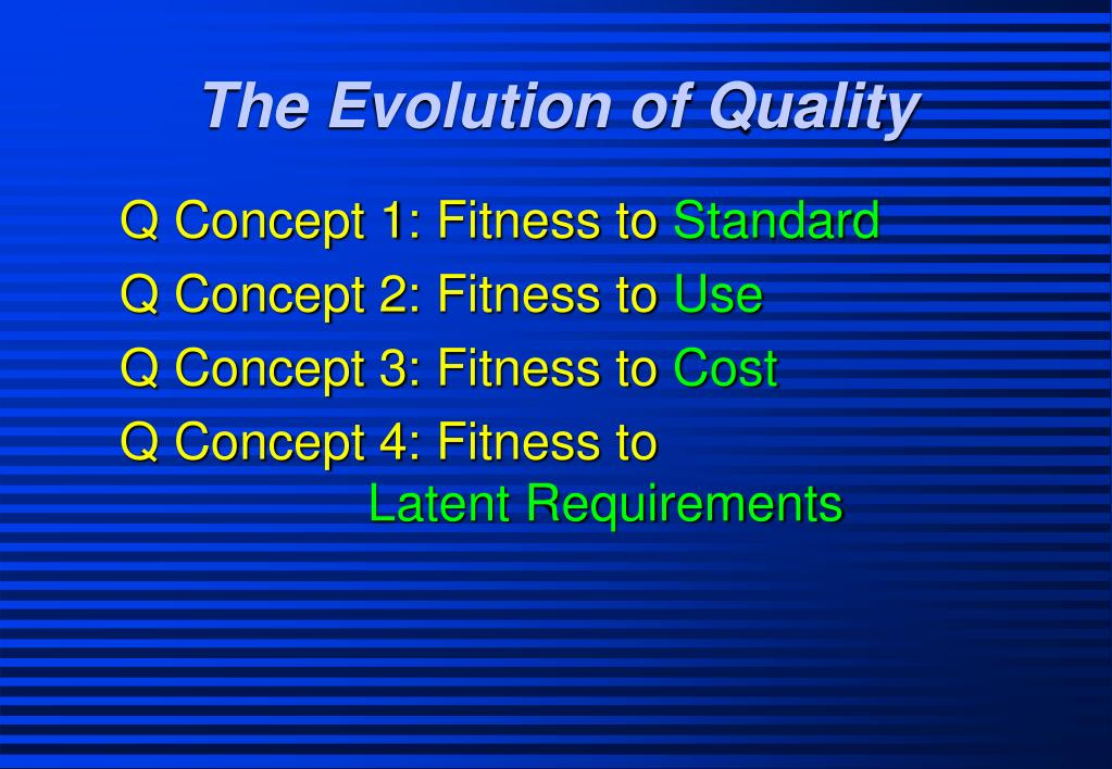 The Evolution of Quality