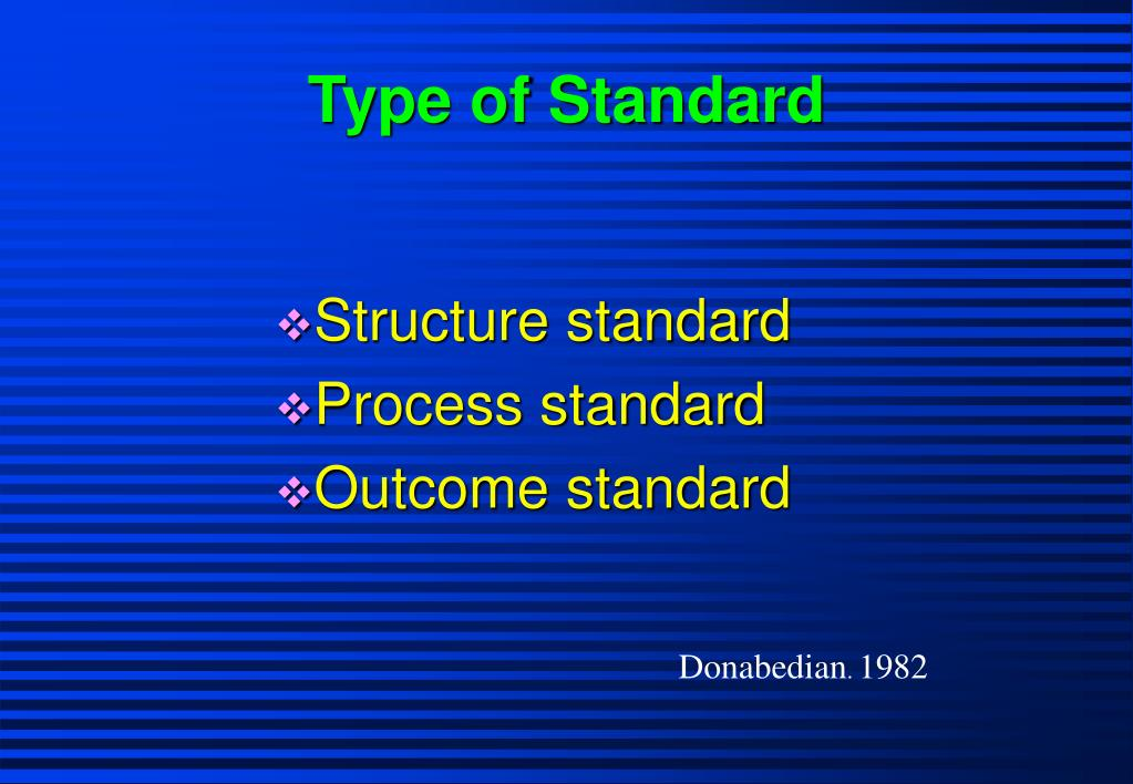 Type of Standard