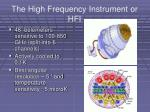 the high frequency instrument or hfi