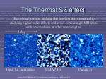the thermal sz effect