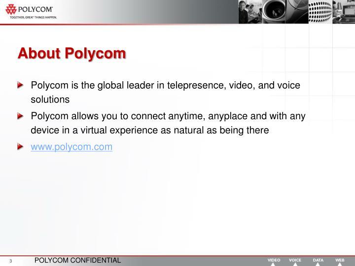 About Polycom