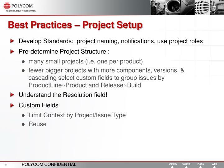 Best Practices – Project Setup
