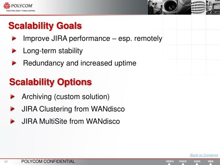 Scalability Goals