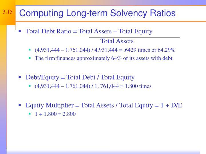 Computing Long-term Solvency Ratios