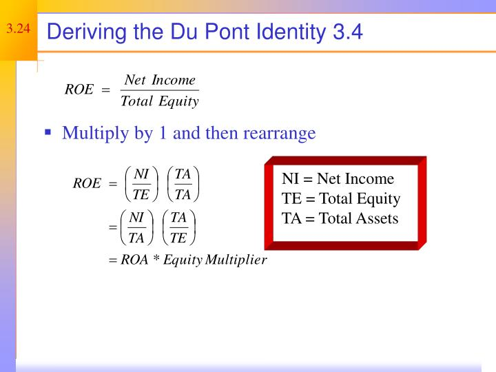 Deriving the Du Pont Identity 3.4