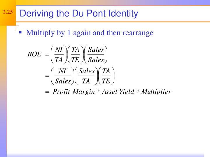Deriving the Du Pont Identity