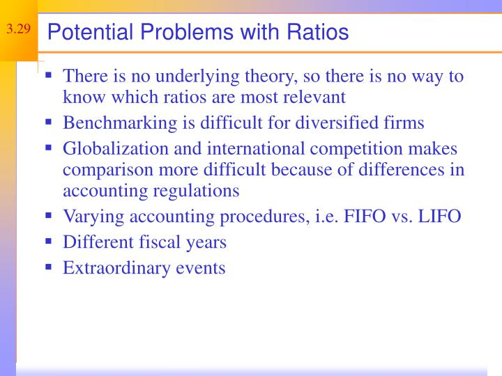 Potential Problems with Ratios