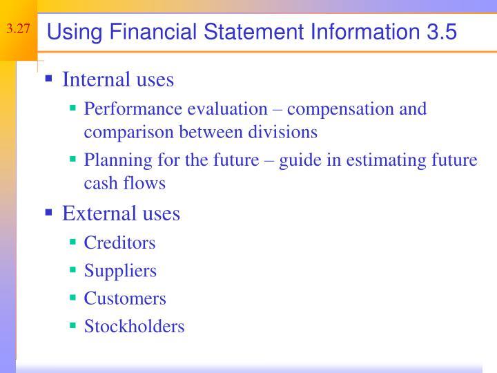 Using Financial Statement Information 3.5