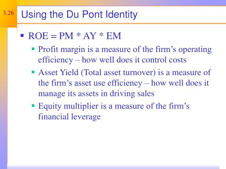 Using the Du Pont Identity