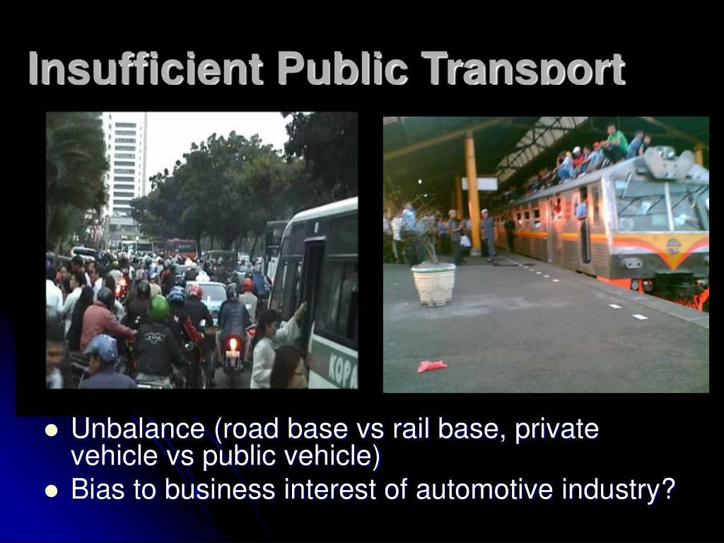 Insufficient Public Transport