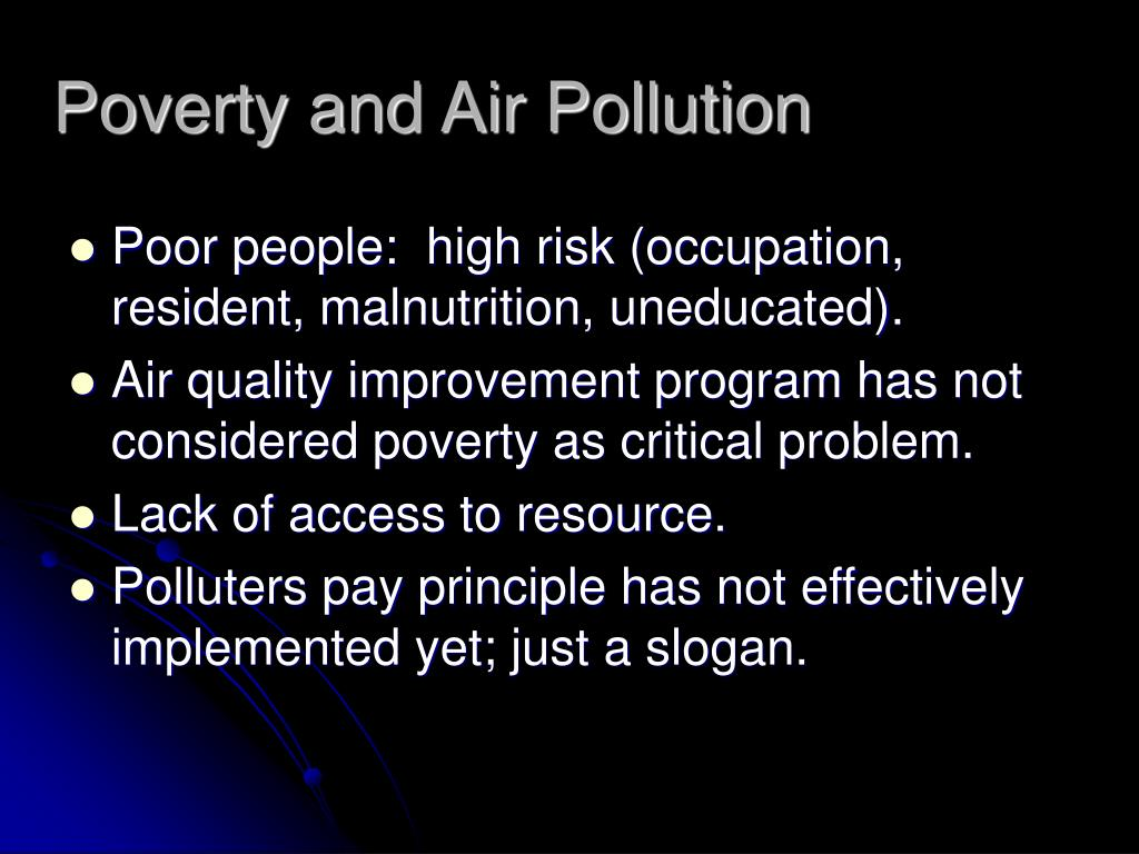 Poverty and Air Pollution