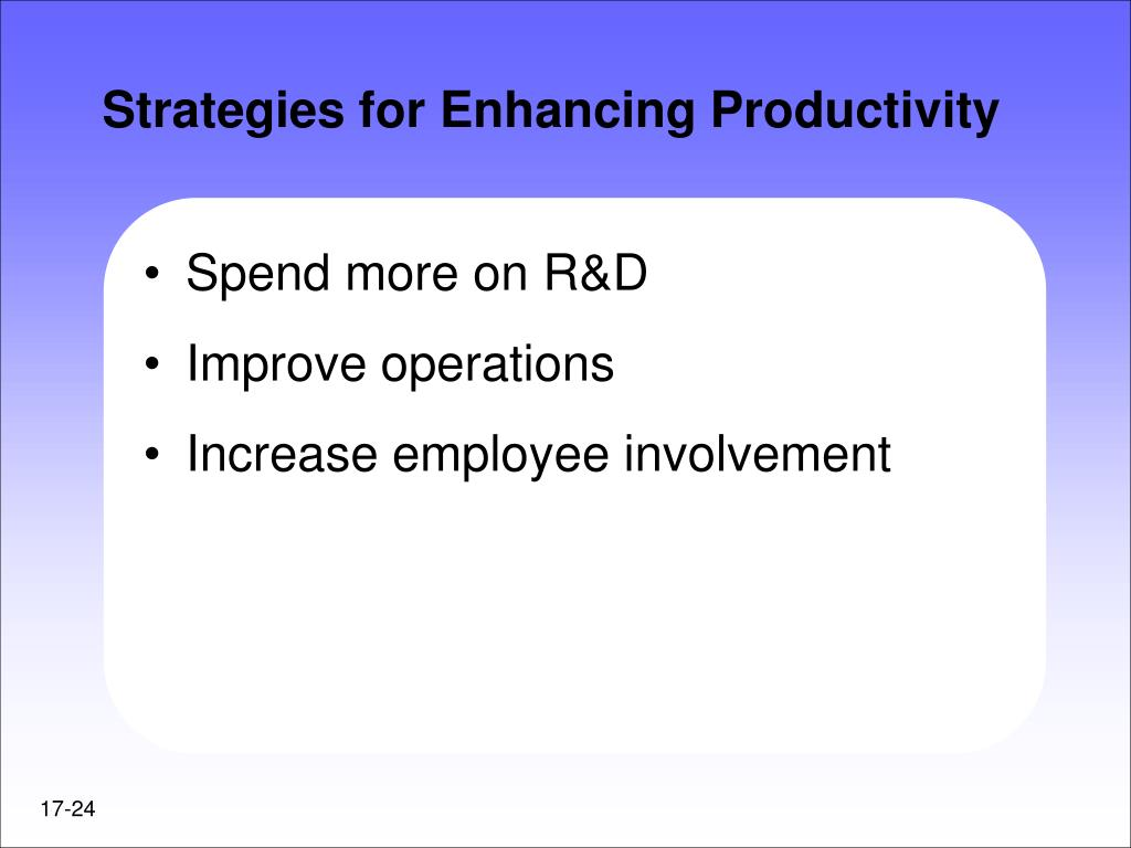 Strategies for Enhancing Productivity