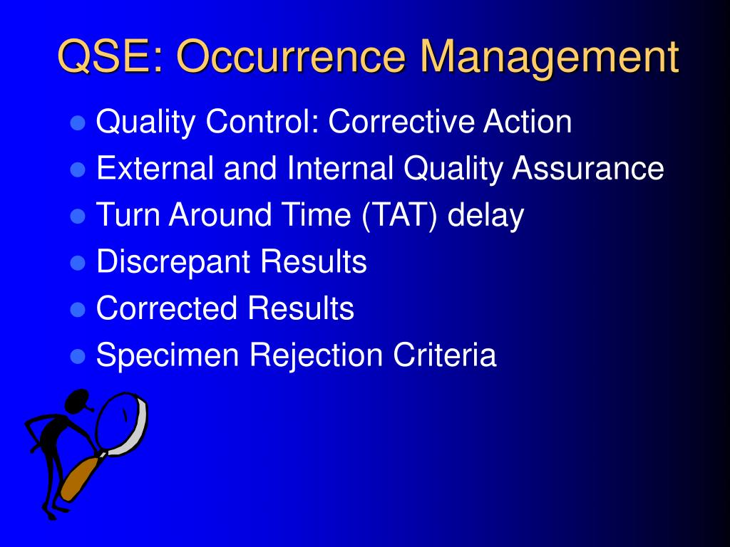 QSE: Occurrence Management
