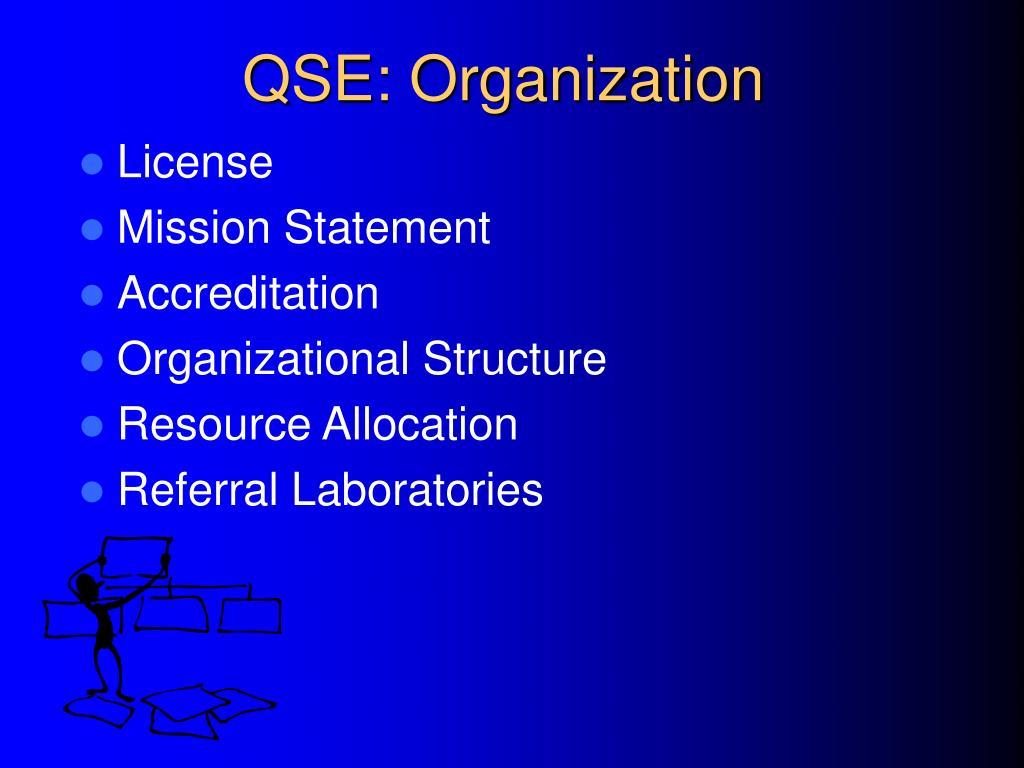 QSE: Organization