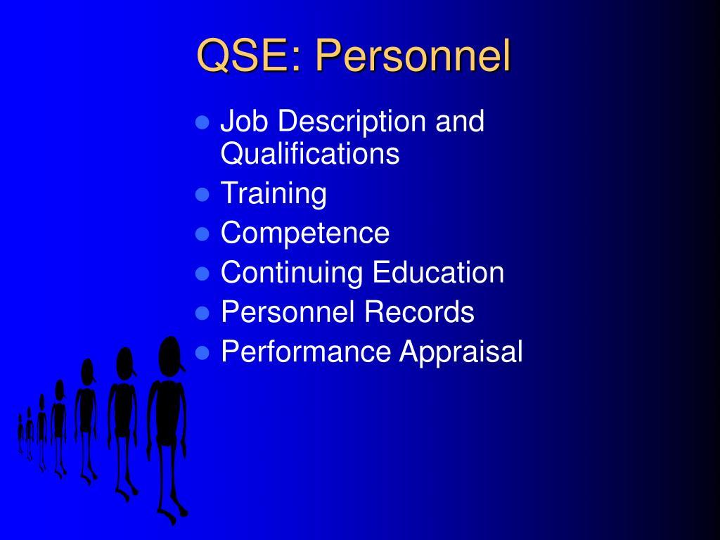 QSE: Personnel