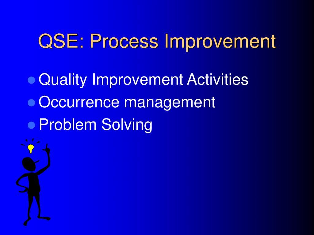 QSE: Process Improvement