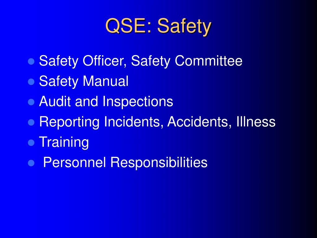 QSE: Safety