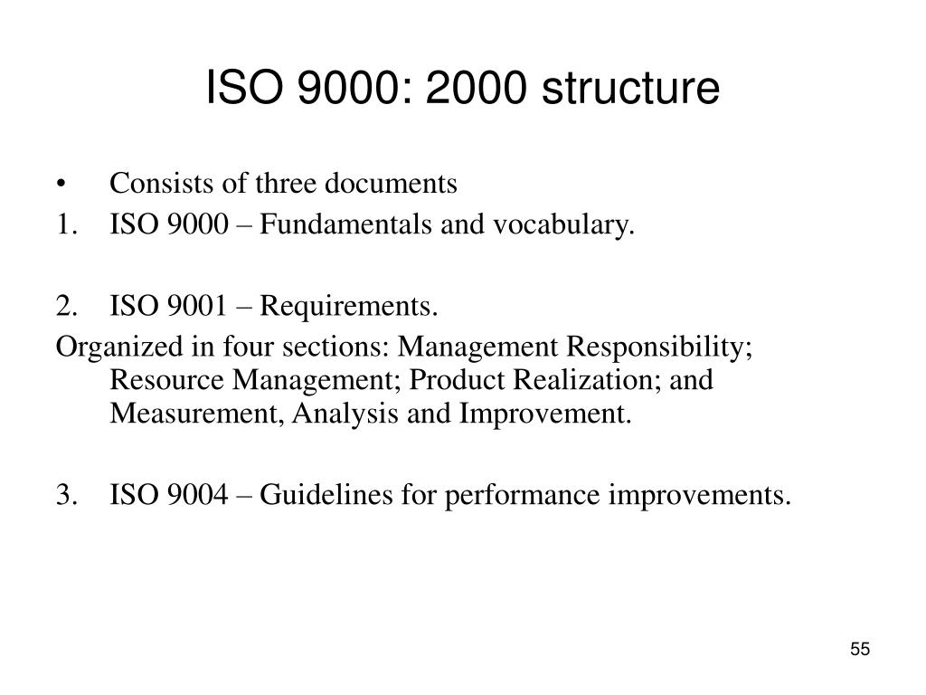 ISO 9000: 2000 structure