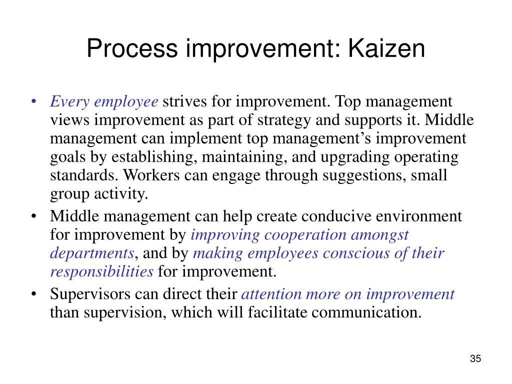 Process improvement: Kaizen