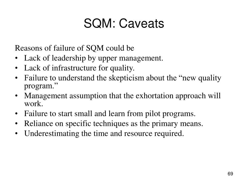 SQM: Caveats