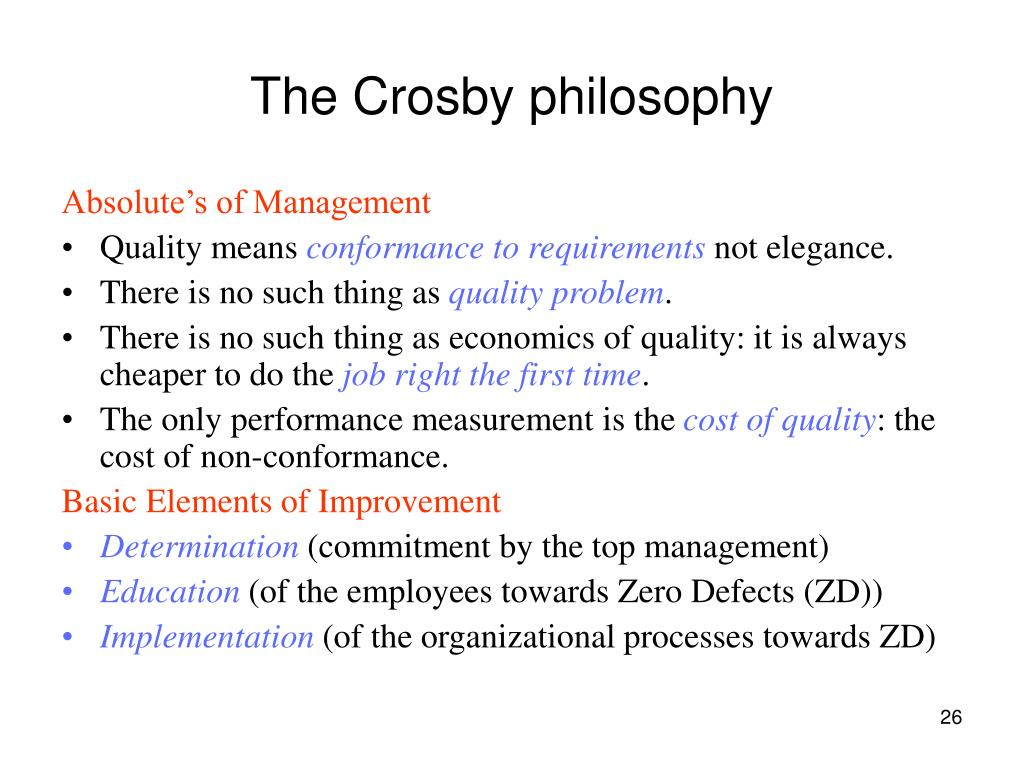 The Crosby philosophy