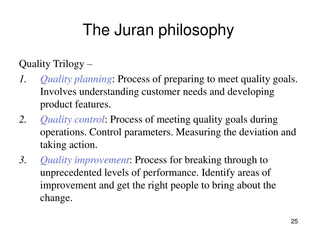 The Juran philosophy