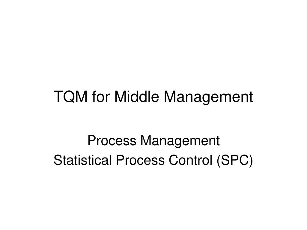 TQM for Middle Management