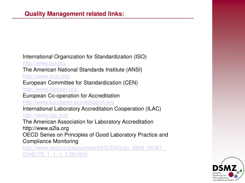 Quality Management related links: