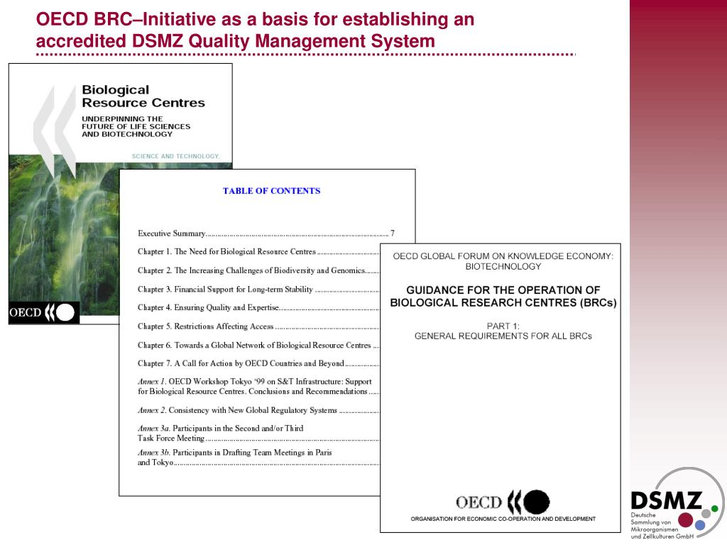 OECD BRC–Initiative as a basis for establishing an