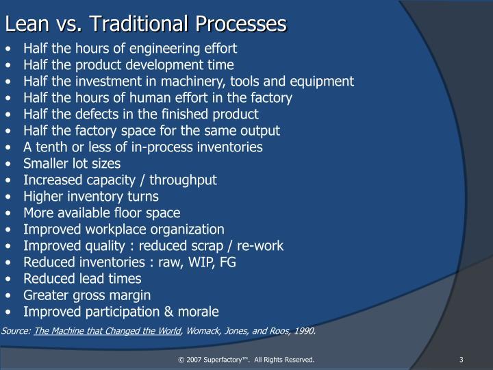 Lean vs. Traditional Processes