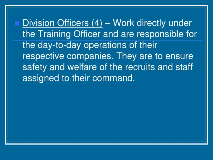 Division Officers (4)