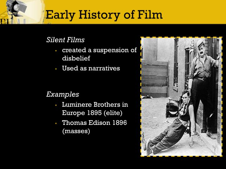 Early history of film