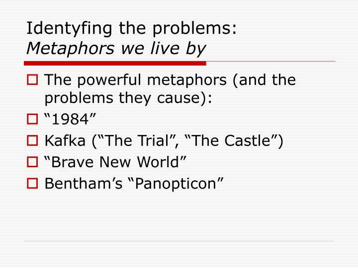 Identyfing the problems: