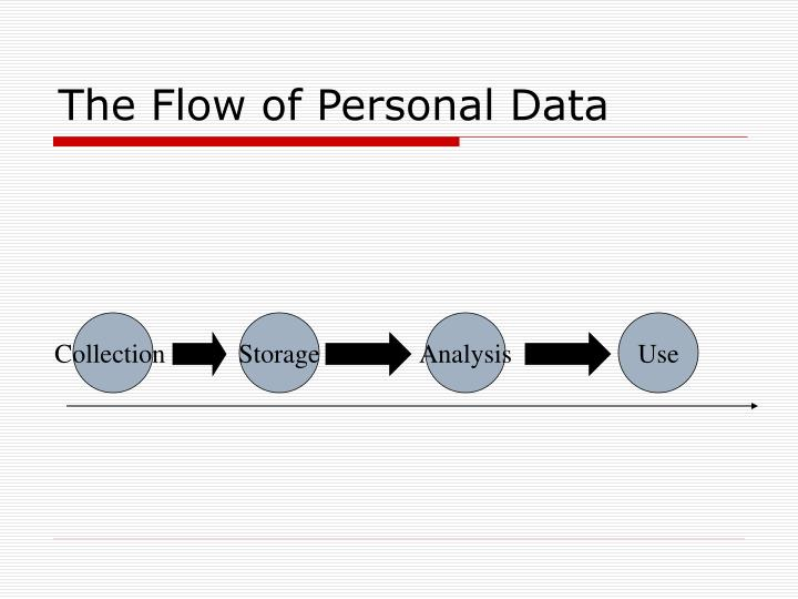 The Flow of Personal Data