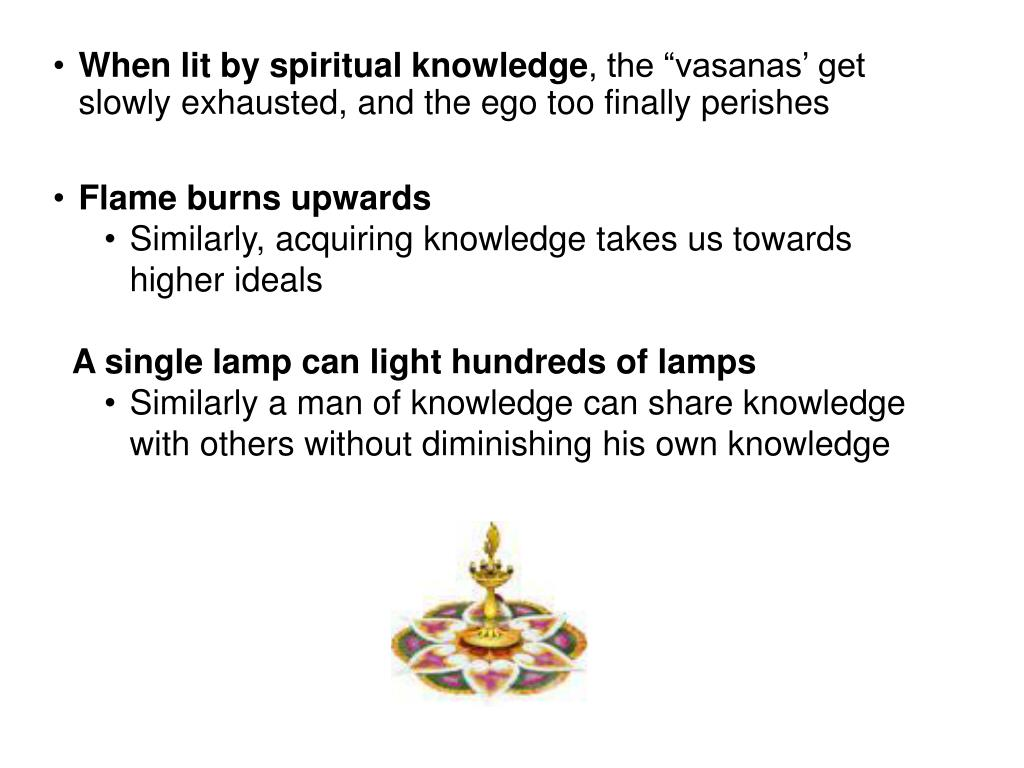 When lit by spiritual knowledge