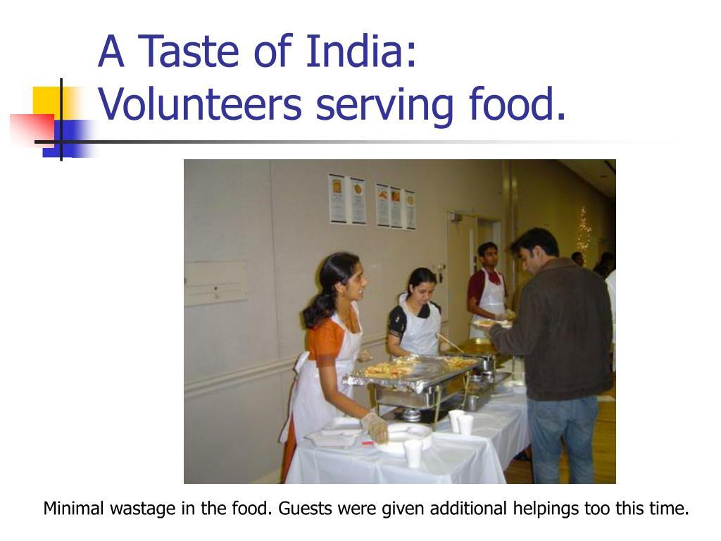 A Taste of India: