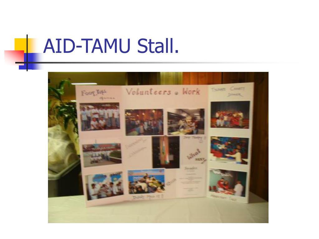 AID-TAMU Stall.