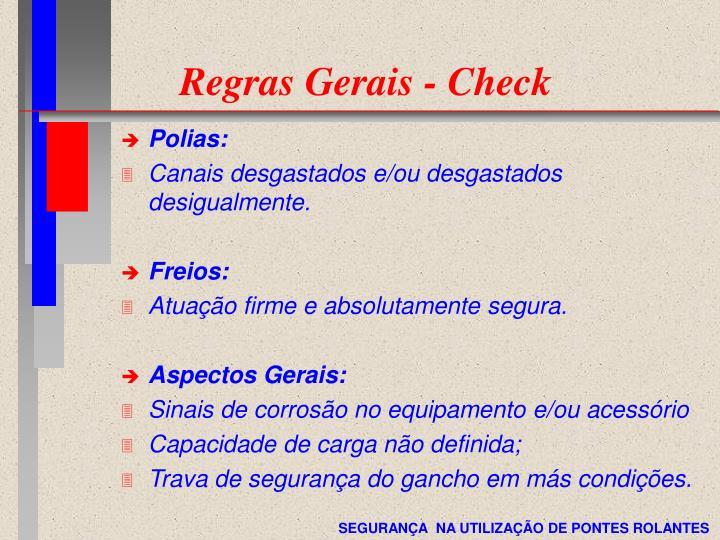 Regras Gerais - Check