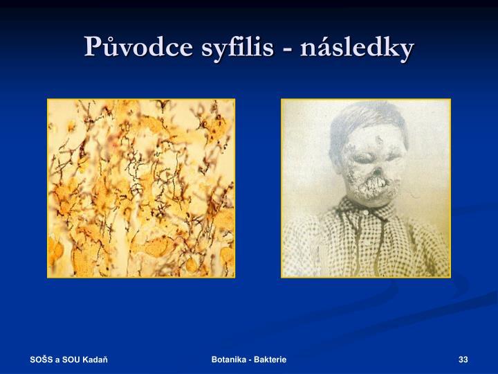 Původce syfilis - následky
