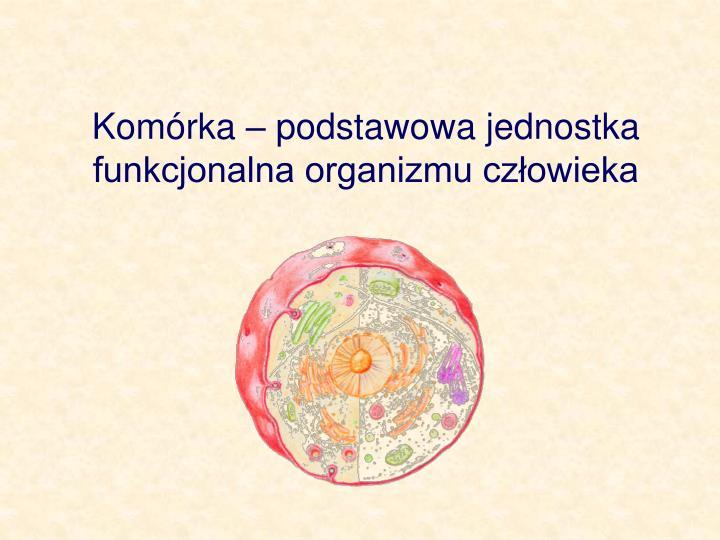 Komrka  podstawowa jednostka funkcjonalna organizmu czowieka