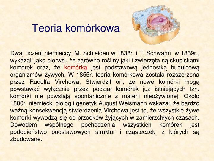Teoria komórkowa