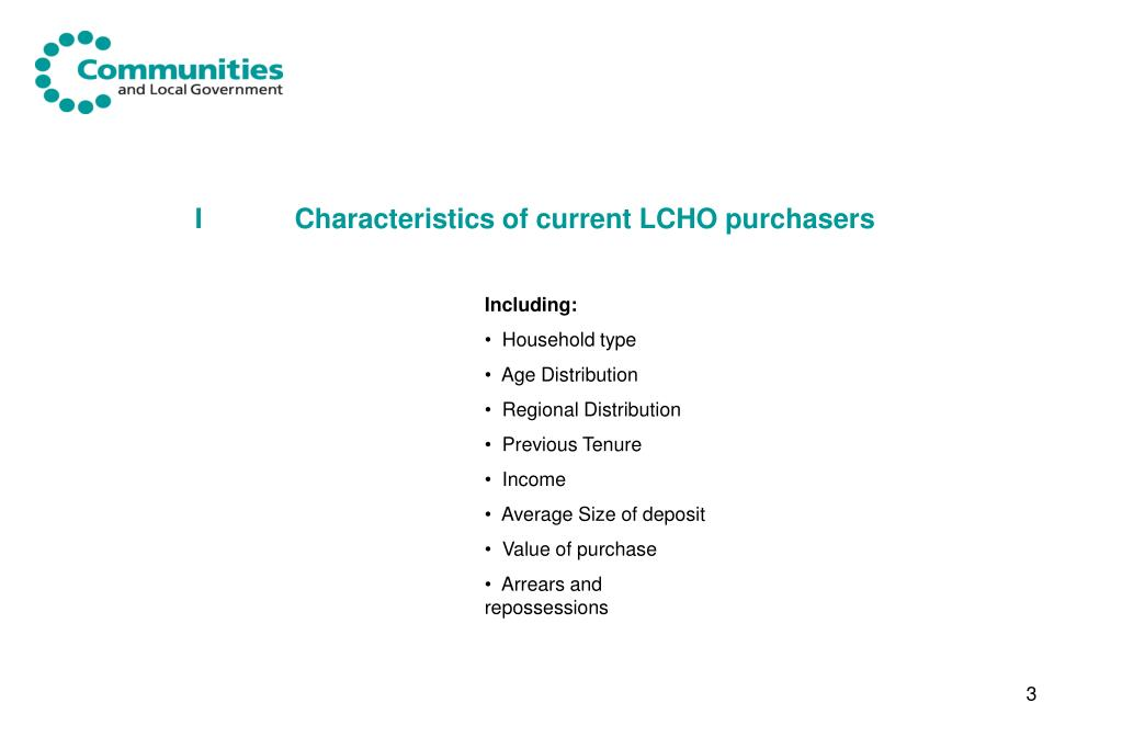 ICharacteristics of current LCHO purchasers