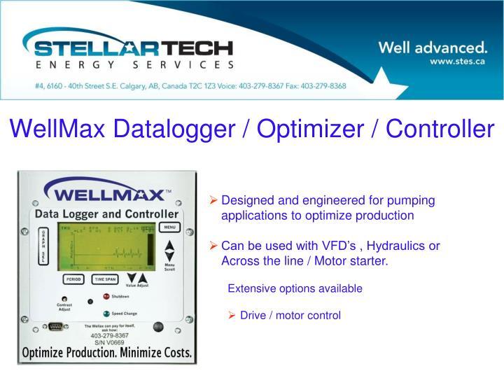 WellMax Datalogger / Optimizer / Controller
