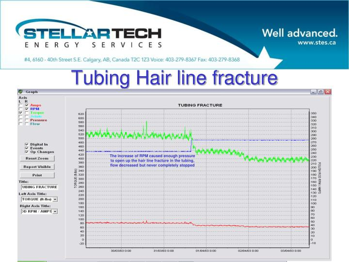 Tubing Hair line fracture