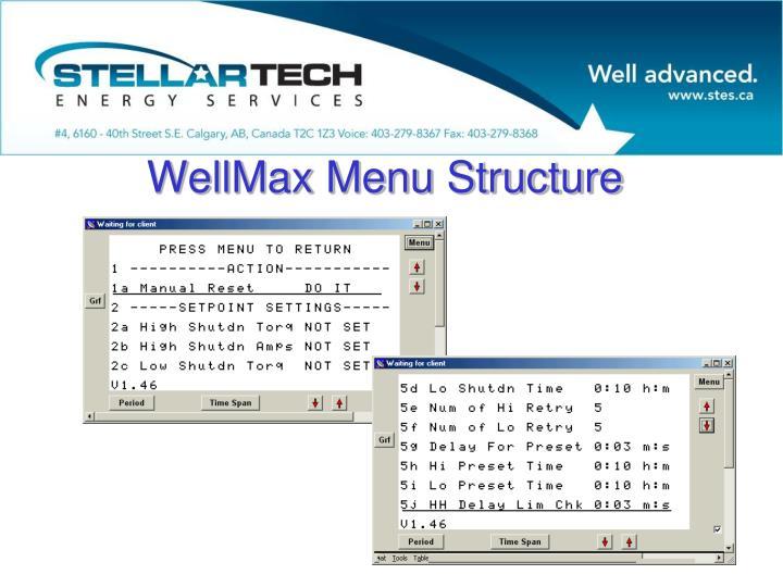 WellMax Menu Structure