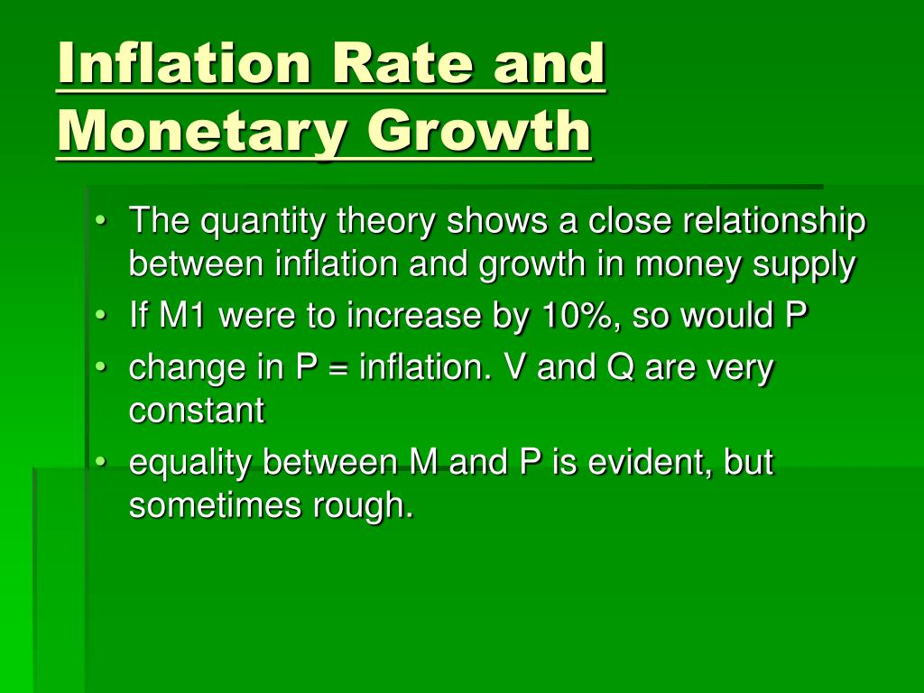 Inflation Rate and Monetary Growth