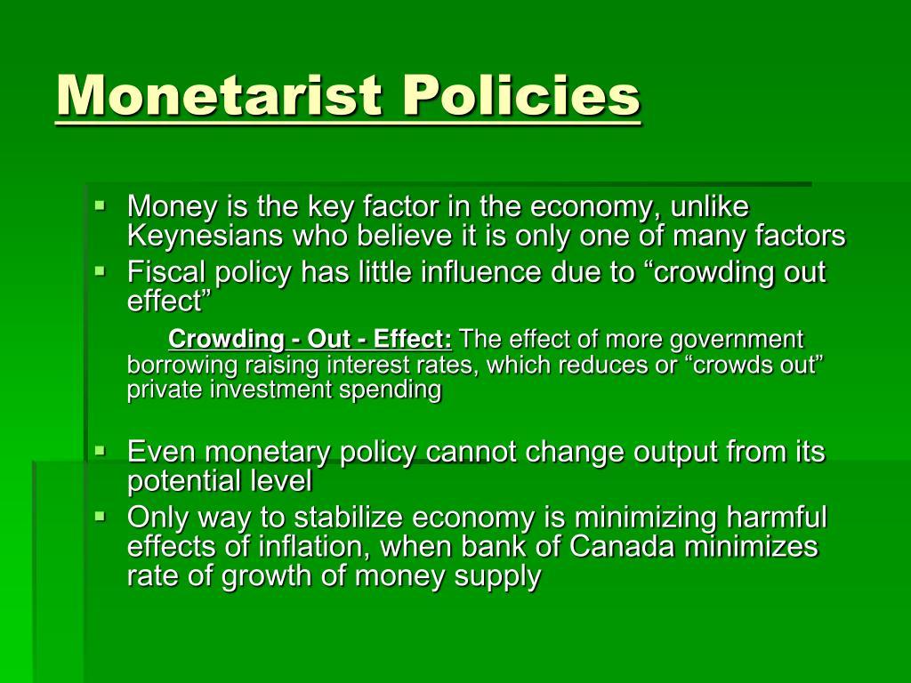 Monetarist Policies