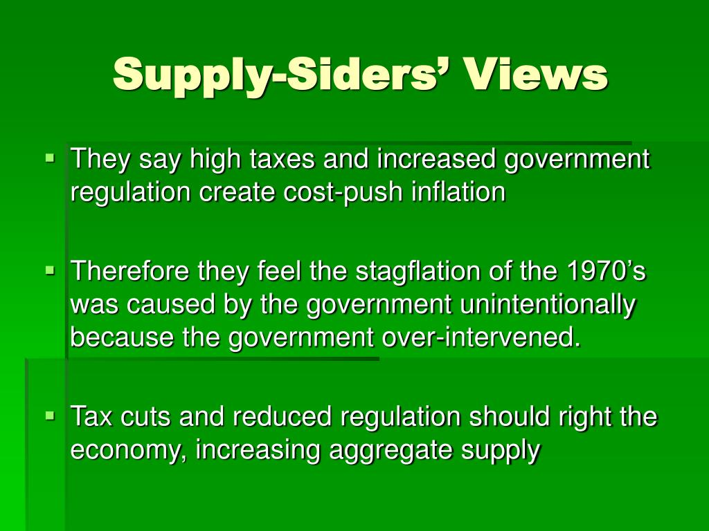 Supply-Siders' Views