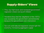 supply siders views